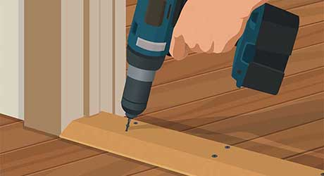 Secure new exterior threshold - Replacing Interior Exterior Threshold