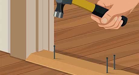 Secure new interior threshold - Replacing Interior Exterior Threshold