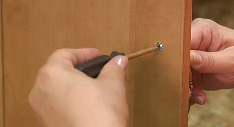 Remove old cabinet door - Replace Door Pulls