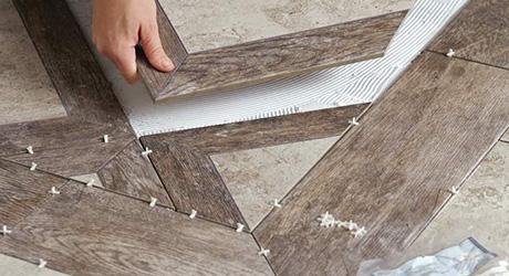 Cut Insets  - Set Pattern Floor Tile