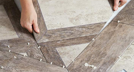 Install Rest Tile  - Set Pattern Floor Tile