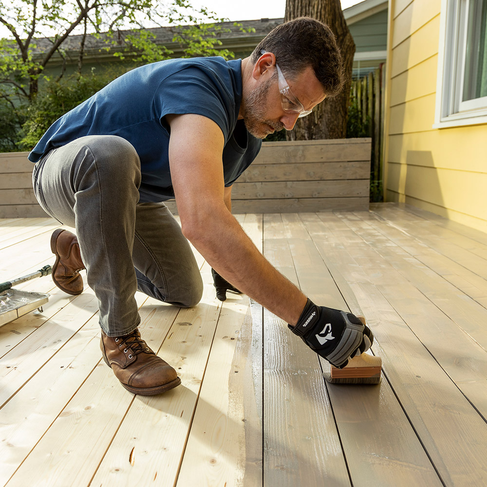 How To Stain A Deck The Home Depot