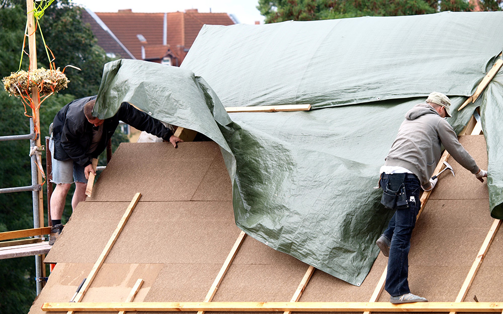 How To Tarp A Roof The Home Depot