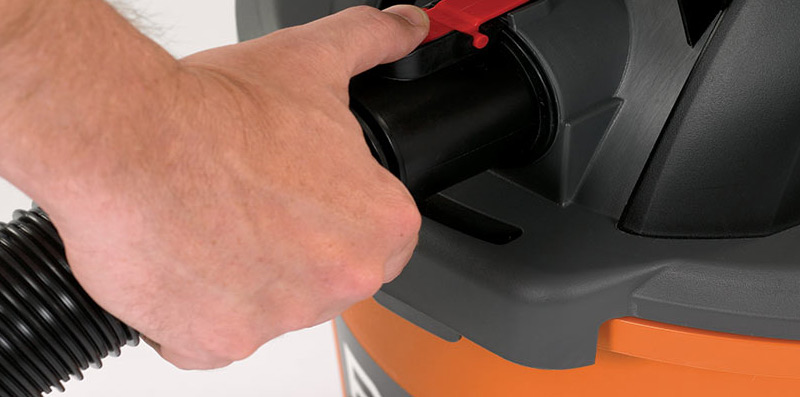 Use a wet-dry vacuum
