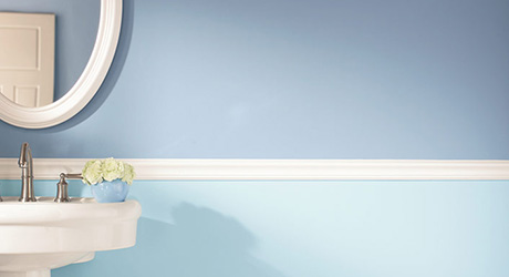 PAINT YOUR BATHROOM WALLS AND TRIM