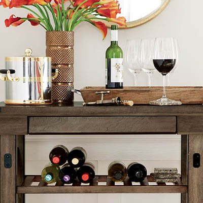 Here is how to style a bar cart in any room