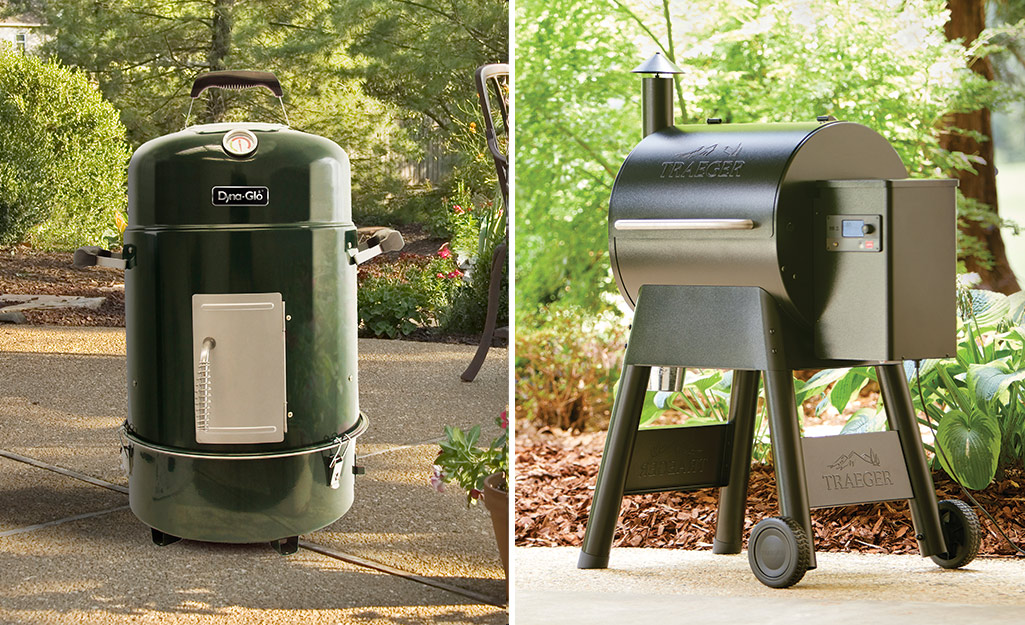 A side by side of two different smoker types.