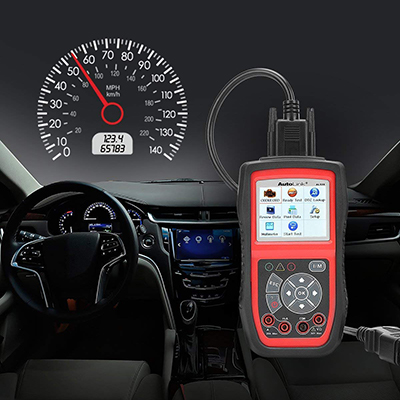 an OBD2 scanner inside a car