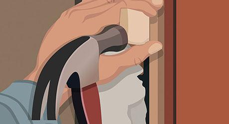 Adjust the door - Weatherproofing Entry Door
