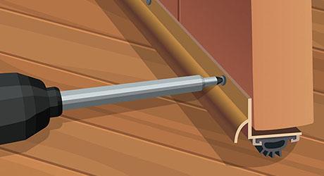 Screw bristle sweep bottom door - Weatherproofing Entry Door