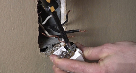 How to Install a GFCI Outlet - The Home Depot Electrical Wiring Outlet on