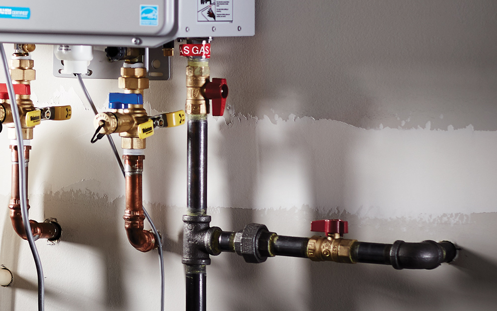 How To Install A Gas Tankless Water Heater The Home Depot