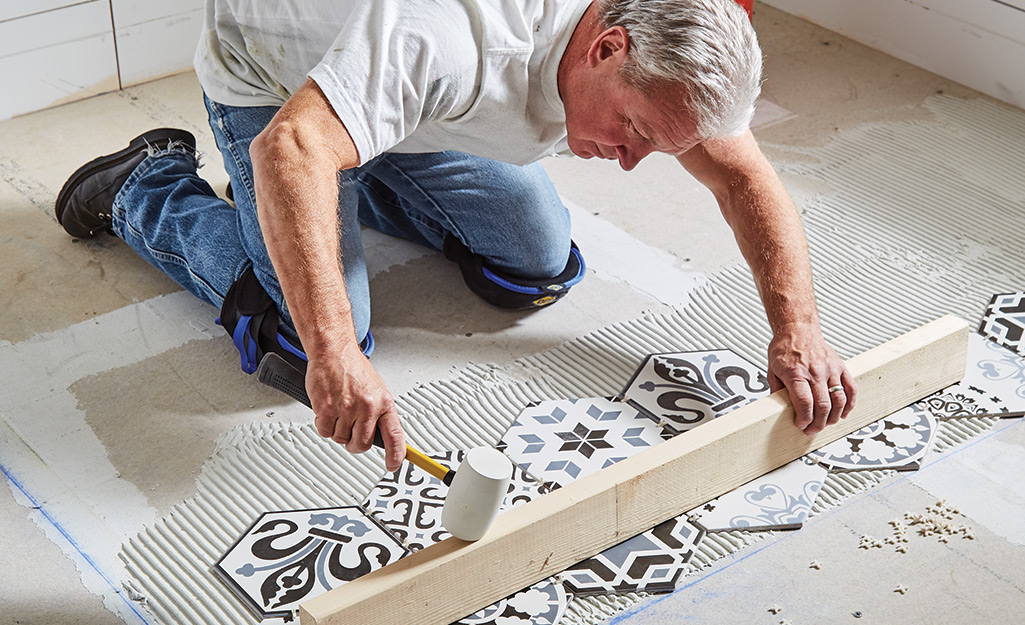 How To Install A Tile Floor The Home Depot