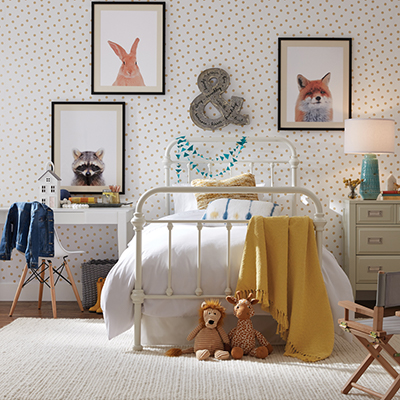 A contemporary style kid's room.
