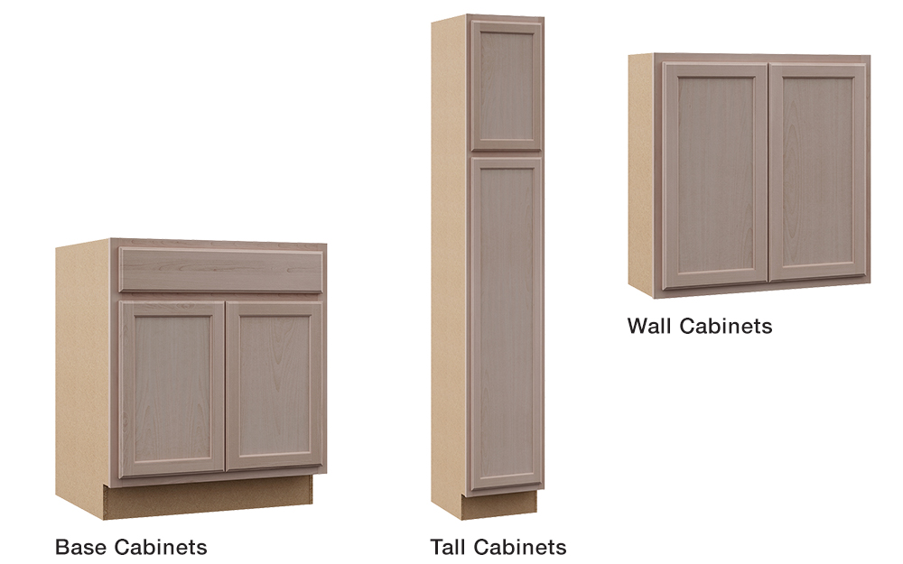 A Picture Of The Three Types Cabinet Configurations