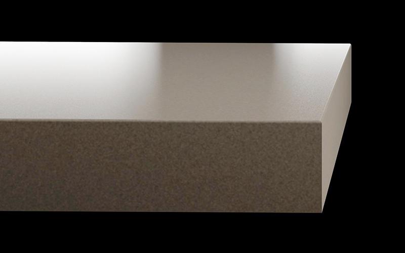 an image of a double radius countertop edge