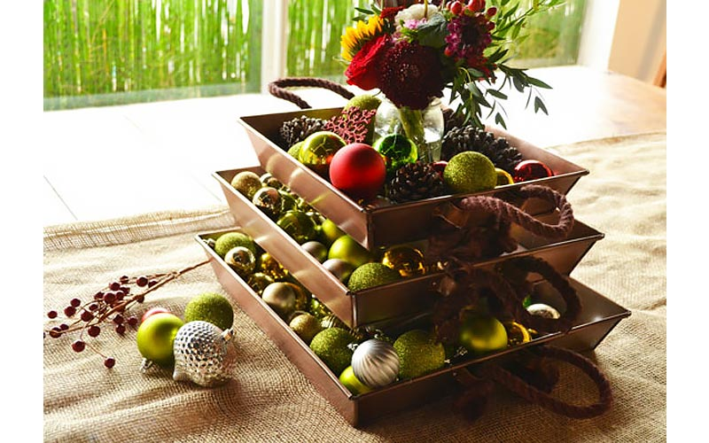 Stacked Tray Centerpiece