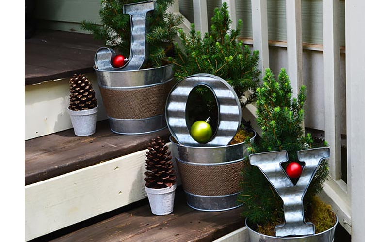 Planters on Stairs