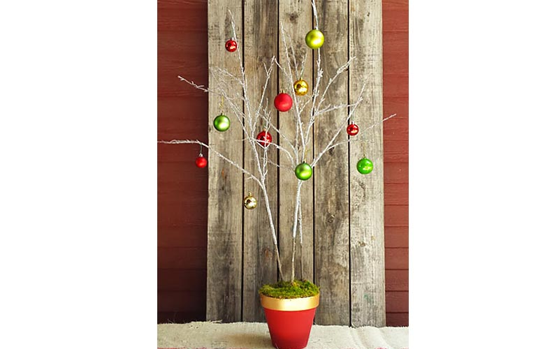 Holiday Tree from Tree Branches