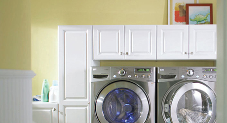 Paint the walls - Freshen Laundry Room Makeover