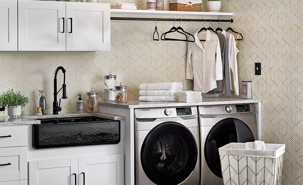 Laundry Room Storage And Shelving Ideas, White Wall Cabinets For Laundry Room