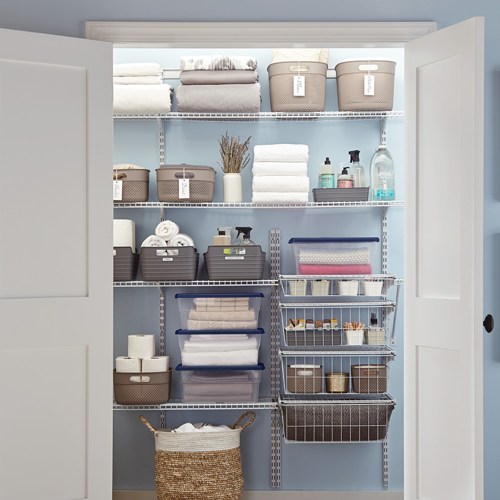 laundry room storage and shelving ideas the home depot rh homedepot com laundry room closet storage ideas clever laundry room storage ideas