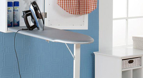 A fold-out ironing board.