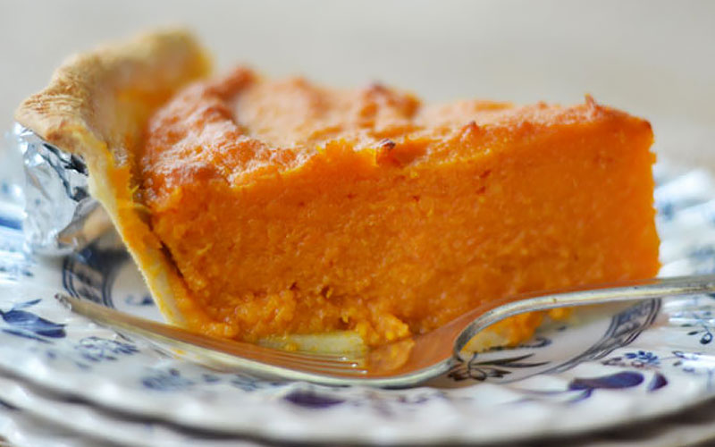 Roasted Sweet Potato Custard Pie