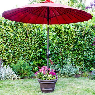 Made for Shade: DIY Umbrella Stand Planter
