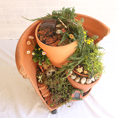 Make a Fairy Garden from Broken Flowerpots