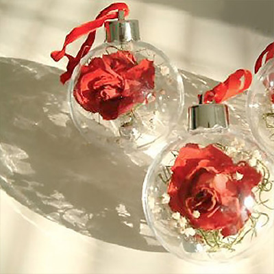 Make Dried Flower Christmas Ornaments