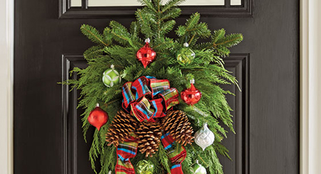 How To Make A Christmas Swag Wreath The Home Depot
