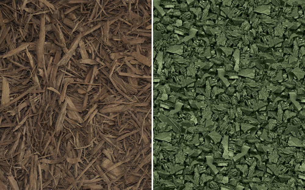 side by side mulch comparison