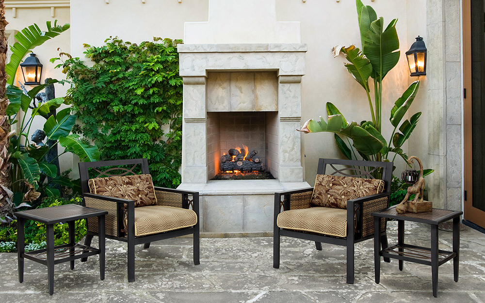 Outdoor Fireplace Ideas - The Home Depot on Small Outdoor Fireplace Ideas id=87335