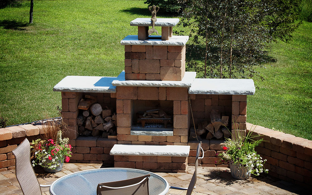 Outdoor Fireplace Ideas - The Home Depot on Small Outdoor Fireplace Ideas id=91152