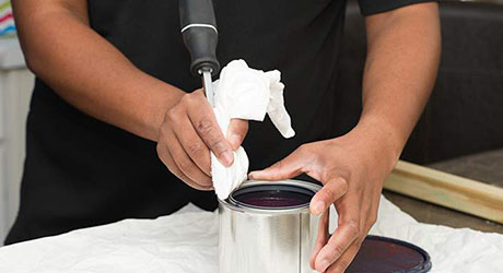 Remove paint from rim - Paint Storage Disposal