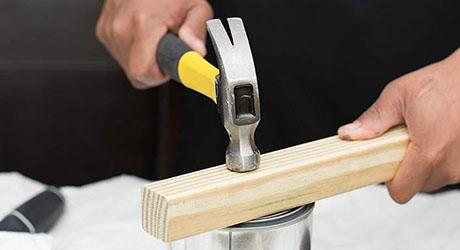Tap lid until secure - Paint Storage Disposal