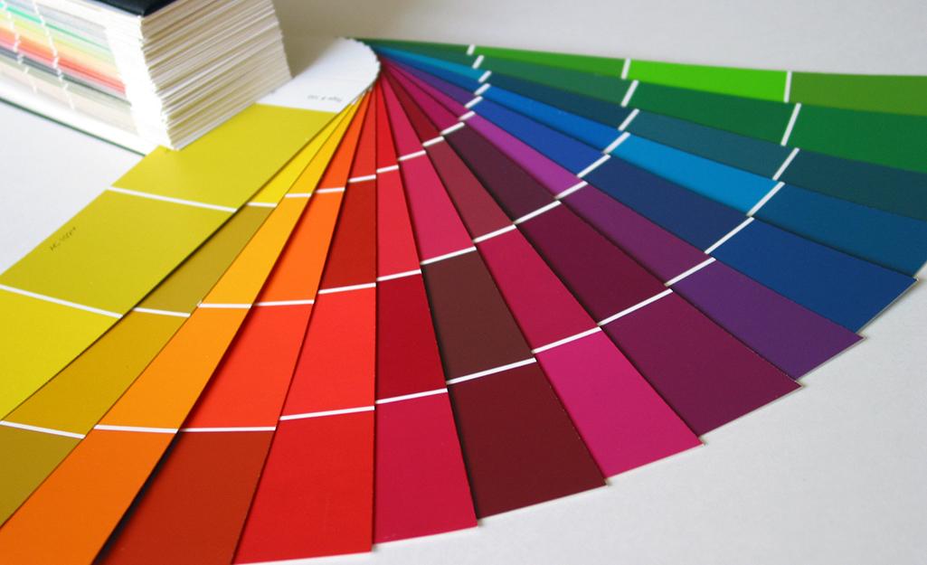 An assortment of paint chips.