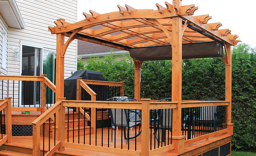 Pergola extension to a deck.