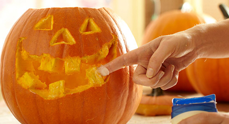 Get a ghostly glow - Pumpkin Decorating Tips