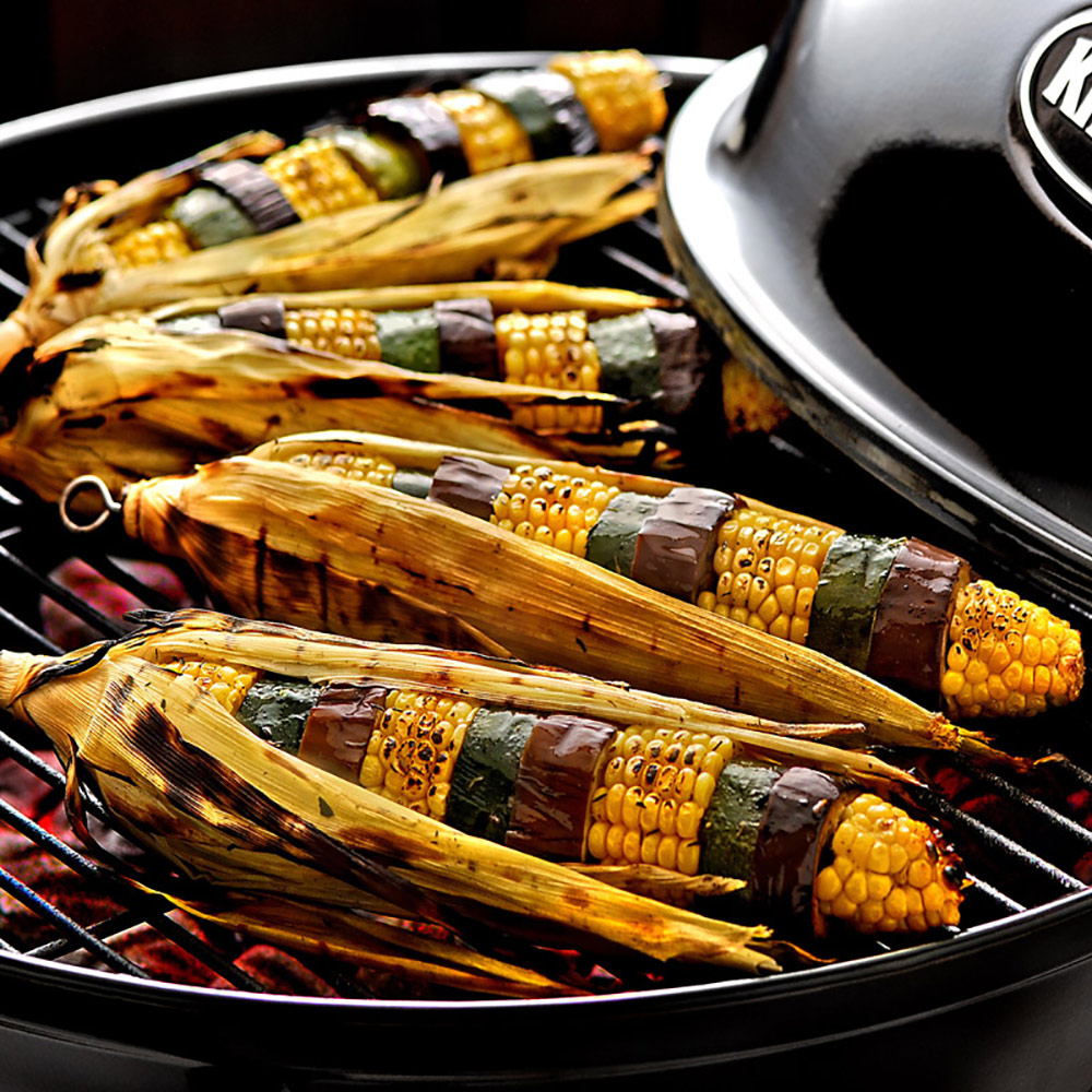 Recipe: Grilled Vegetable Skewers With Corn, Zucchini and Eggplant