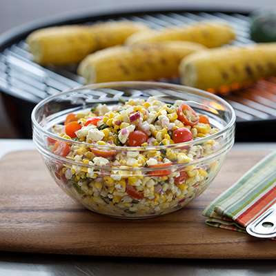 Recipe: Grilled Corn Salad With Poblano Peppers
