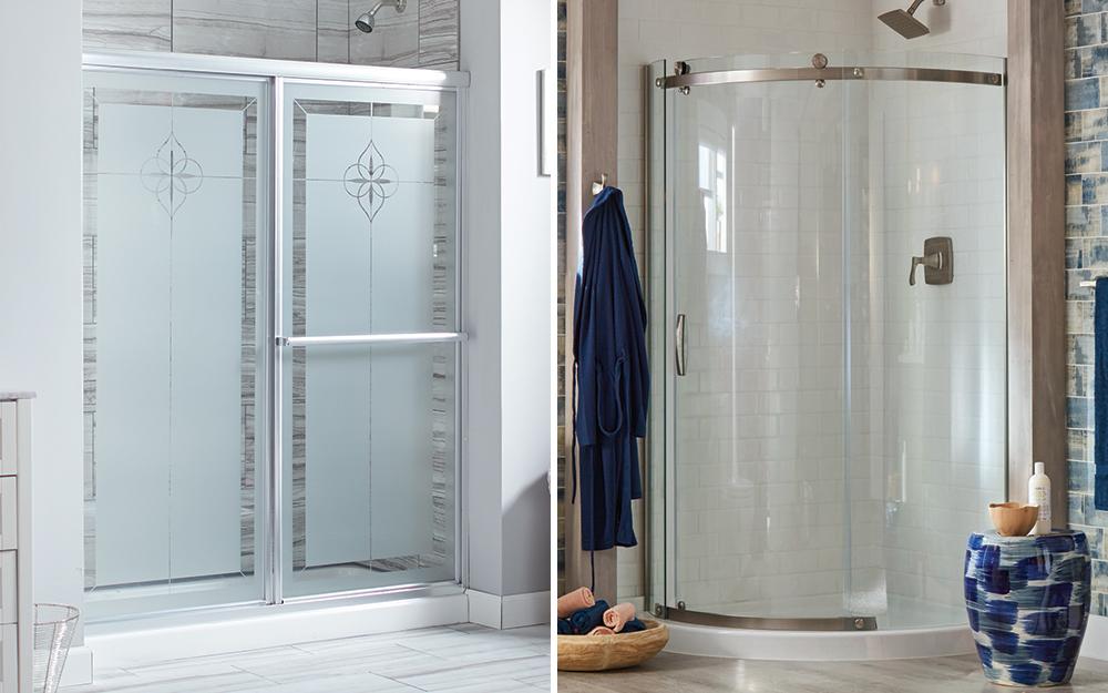 So sánh cửa tắm góc và cửa tắm góc.