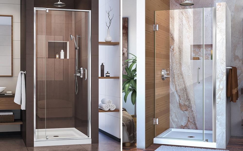 So sánh cửa nhà tắm có khung và không khung.