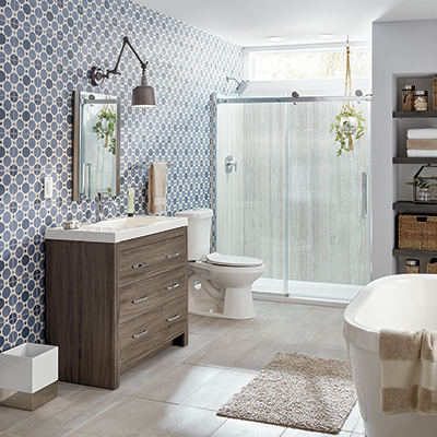Bathroom remodel ideas the home depot - Bathroom designs for home ...
