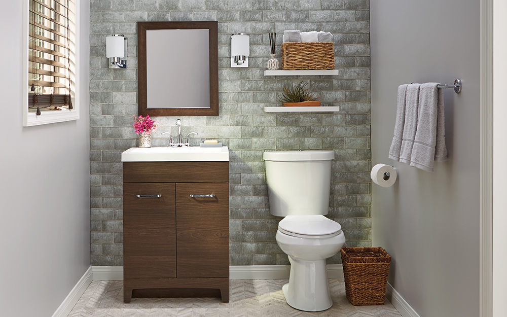 Astounding 8 Small Bathroom Design Ideas The Home Depot Download Free Architecture Designs Ferenbritishbridgeorg