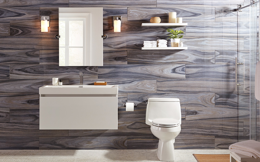 Swell 8 Small Bathroom Design Ideas The Home Depot Download Free Architecture Designs Ferenbritishbridgeorg