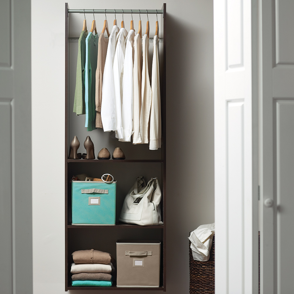 small closet organization hero