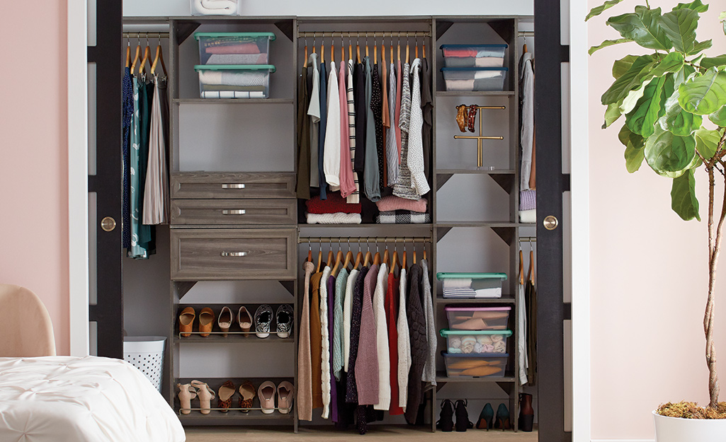 Small Closet Organization The Home Depot