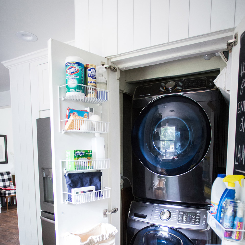 Small Laundry Room Makeover with Samsung Appliances